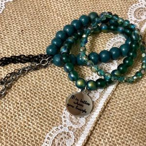 Eagles green bead bracelet bundle
